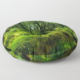 MOSSY ROCK ENGLISH FOREST Floor Pillow