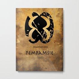 Adinkra Symbol Pempasie Metal Print