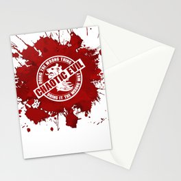 d20 Chaotic Evil Alignment Stationery Cards