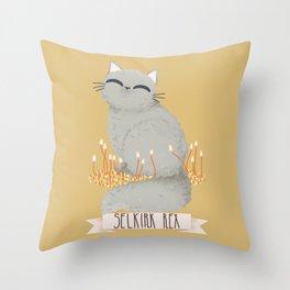 Sekirk Rex Cat Throw Pillow