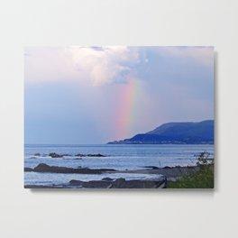 Coastal Rainbow Metal Print