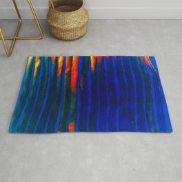 Midnight Blue Lava Lines, Our Earth Burn Marks Rug