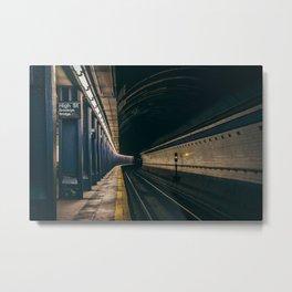 Subway Manhattan USA Metal Print