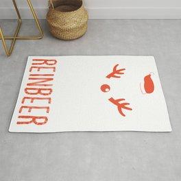 Reinbeer Funny Christmas Gift Santa Hat Antler design Rug