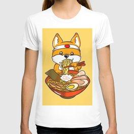 Japanese Anime Shiba Inu Ramen T-shirt