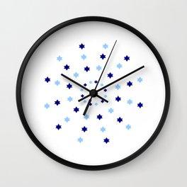 Mandala 2- blue and red Wall Clock