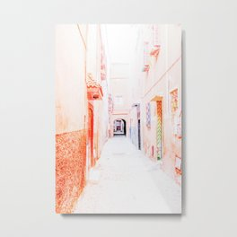 Colorful Street in Marrakech, Morocco Metal Print