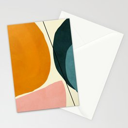 shapes geometric minimal painting abstract Stationery Cards