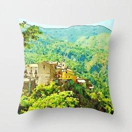 Tortora view with mountain Throw Pillow