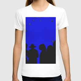 Silhouette of a crowd of people T-shirt