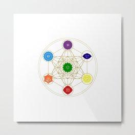 metatron cube seven chakras Metal Print