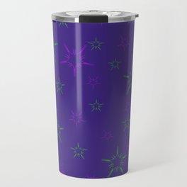 Purple Stars Travel Mug