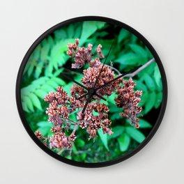 Burgundy Flower Wall Clock
