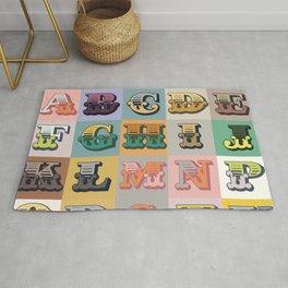 'Alphabet' Original Design Motif Rug