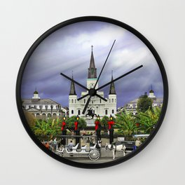 In Christmas Mist Wall Clock