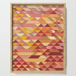 Triangle Pattern no.4 Warm Colors Red and Yellow Serving Tray