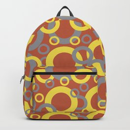 Dark Orange Gray Yellow Funky Ring Pattern V12 Color of the Year 2021 and Accent Shade Backpack