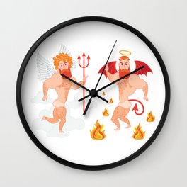 Angel and Devil Wall Clock
