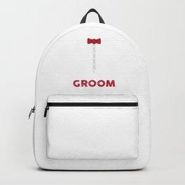 Newlyweds Wedding Marriage Couples Bride Groom Bridegroom Gift Here Comes The Groom Backpack