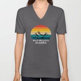 Black Mountain Alaska Unisex V-Neck