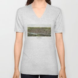 Bird's Eye View of Manayunk Philadelphia, Pennsylvania (1907) Unisex V-Neck