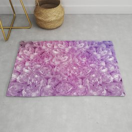 Purple and Pink Peonies Rug