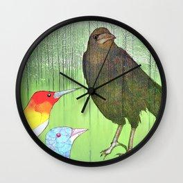Le roi corbeau Wall Clock