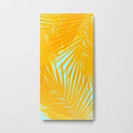Palms Tangerine & Blue Metal Print