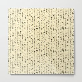 Ancient Japanese on Parchment Metal Print