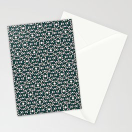 Benjamin Moore 2019 Metropolitan Gray, Beau Green 2054-20 and Snowfall White Diamond Grid Pattern Stationery Cards