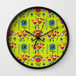 Karmic Green Wall Clock