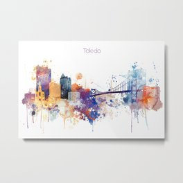 Colorful Toledo watercolor design Metal Print