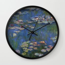 WATER LILIES - CLAUDE MONET Wall Clock