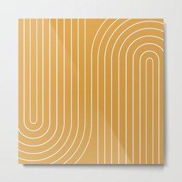 Minimal Line Curvature VIII Metal Print