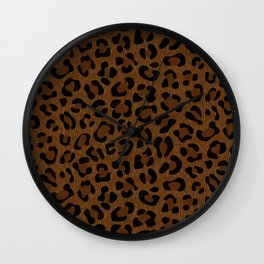 Leopard Print - Dark Wall Clock