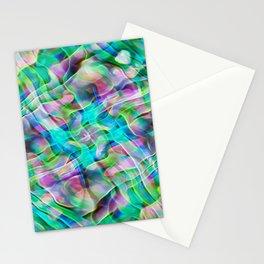 Kaleidoscopic Neon Abalone Stationery Cards