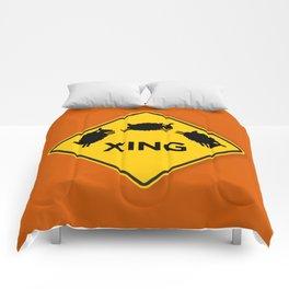 Sheep XING Red Orange Comforters