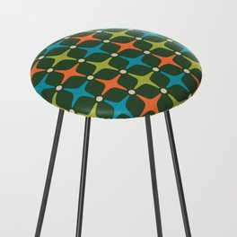 Mid Century Modern Star Pattern 934 Counter Stool