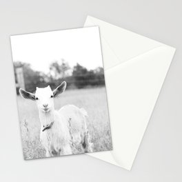 Angelic Baby Goat B&W Stationery Cards