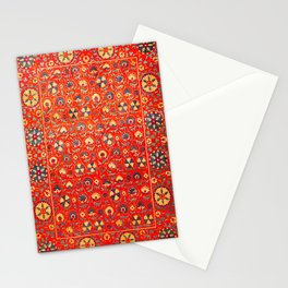 Boho Orange Oriental Traditional Moroccan Style Illustration  Stationery Cards