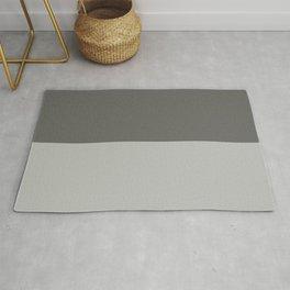 Benjamin Moore 2019 Color of Year Metropolitan & Kendall Charcoal Gray Bold Horizontal Stripes Rug