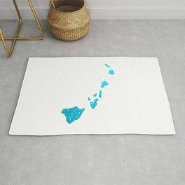 hawaii map Rug