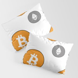 Ethereum and Bitcoin Pattern Pillow Sham