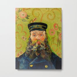 Vincent van Gogh - The Postman Metal Print