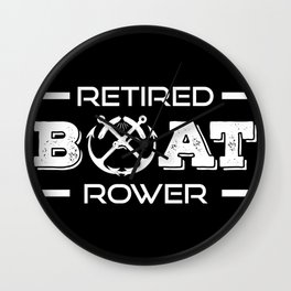 Rowing pensioners boat force in retirement Wall Clock