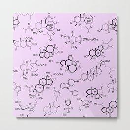 Molecules on Pink Metal Print