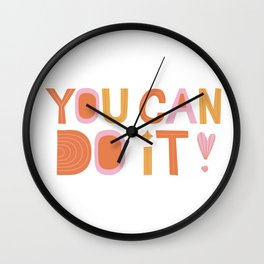 You Can Do It, Motivational Quotes Wall Clock