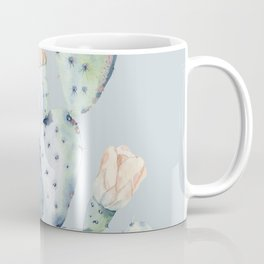 Prettiest Rose Cactus Blue Coffee Mug