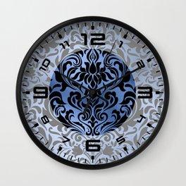 Classic Blue Swirls 12 Wall Clock