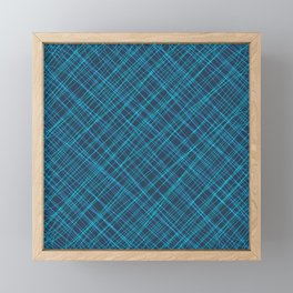 Royal ornament of their blue threads and luminous intersecting fibers. Framed Mini Art Print